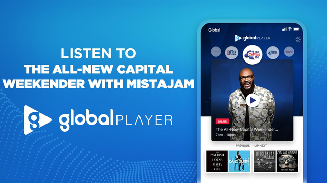 Listen on demand to Capital Weekender with Mistajam