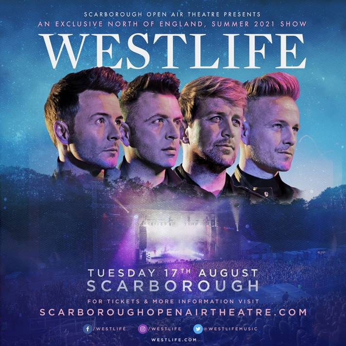 Westlife announce huge Scarborough concert for 2021
